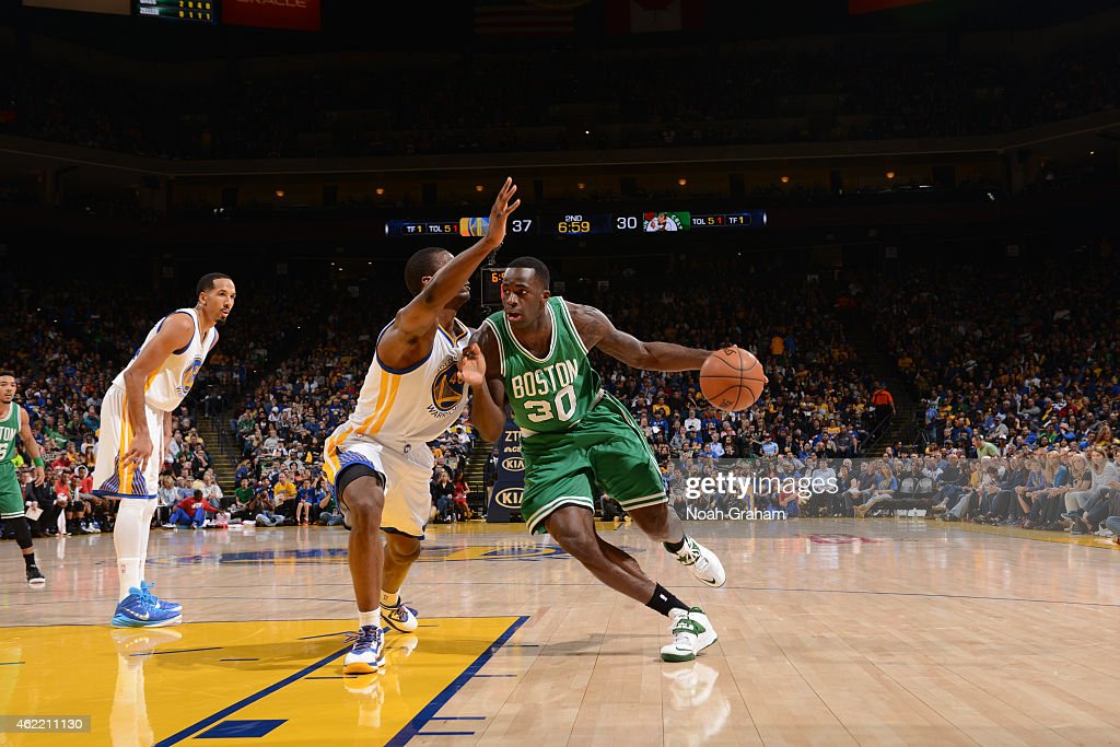 <a gi-track='captionPersonalityLinkClicked' href=/galleries/search?phrase=Andre+Dawkins&family=editorial&specificpeople=6543120 ng-click='$event.stopPropagation()'>Andre Dawkins</a> #50 of the Boston Celtics drives to the basket against the Golden State Warriors on January 25, 2015 at Oracle Arena in Oakland, California.
