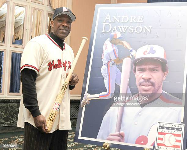 Andre Dawson attends a Baseball Hall of Fame press conference at The WaldorfAstoria on January 7 2010 in New York City
