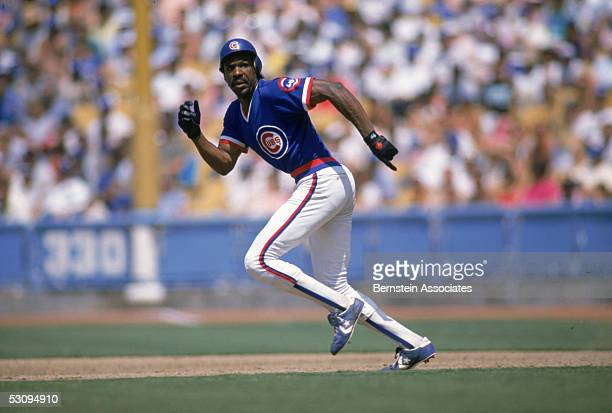Andre Dawson of the Chicago Cubs runs to a base during a 1988 season game Andre Dawson played for the Cubs from 19871992