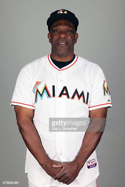 Andre Dawson of the Miami Marlins poses during Photo Day on Tuesday February 25 2014 at Roger Dean Stadium in Jupiter Florida