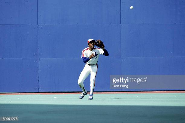 Andre Dawson of the Montreal Expos bats during an MLB game at Olympic Stadium in Montreal Quebec Canada Andre Dawson played for the Montreal Expos...