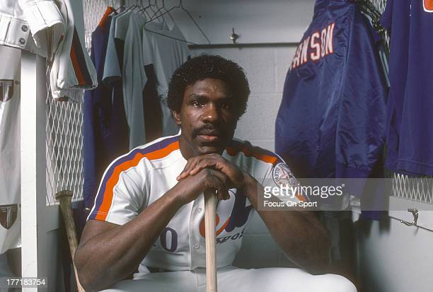 Andre Dawson of the Montreal Expos poses for this portrait during Major League Baseball spring training circa 1983 at Jackie Robinson Stadium in...
