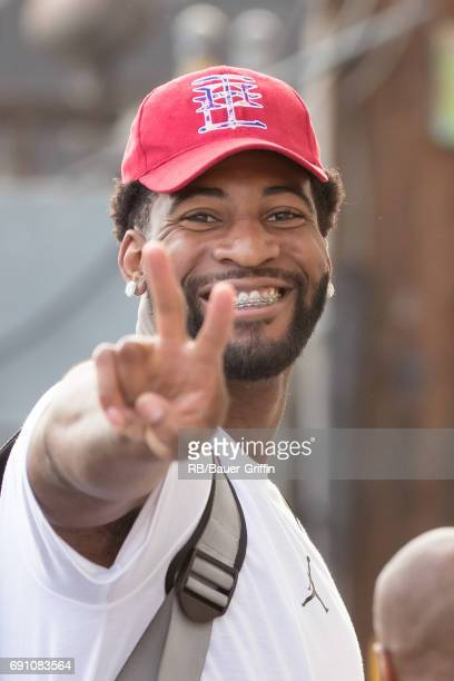 Andre Drummond is seen at 'Jimmy Kimmel Live' on May 31 2017 in Los Angeles California