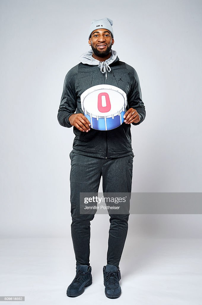 <a gi-track='captionPersonalityLinkClicked' href=/galleries/search?phrase=Andre+Drummond&family=editorial&specificpeople=7122456 ng-click='$event.stopPropagation()'>Andre Drummond</a> #0 of the Detroit Pistons poses for a portrait with the twitter emoji during NBA All-Star Weekend on February 12, 2016 at the Sheraton Centre in Toronto, Ontario Canada.