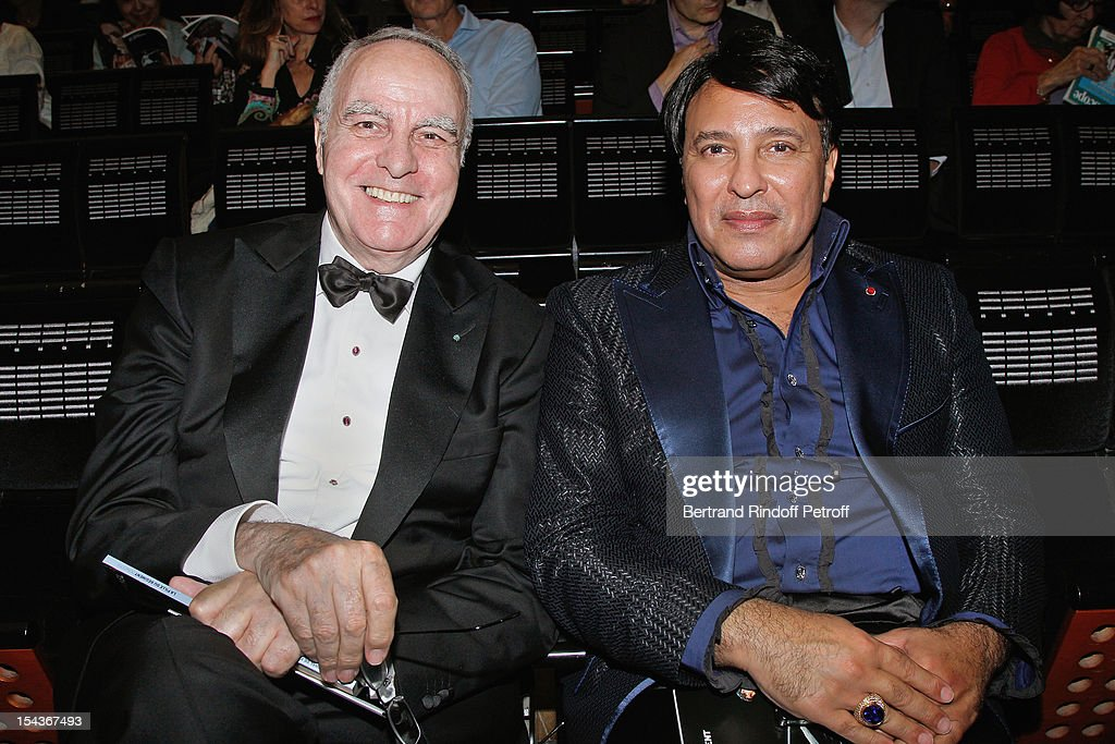 Andre Dunstetter (L) and Prince Mubarak Fahd S. Al Sabah attend AROP Gala Dinner on October 18, 2012 in Paris, France.