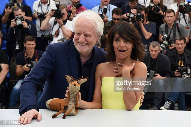 Andre Dussollier and Florence Foresti attend a photocall for 'The Little Prince' during the 68th annual Cannes Film Festival on May 22 2015 in Cannes...