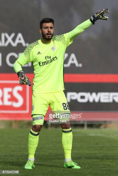 Andre Ferreira of SL Benfica B in action during the Segunda Liga match between SL Benfica B and FC Porto B at Caixa Futebol Campus on April 23 2017...