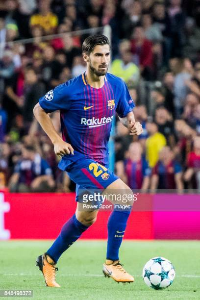 Andre Filipe Tavares Gomes of FC Barcelona in action during the UEFA Champions League 201718 match between FC Barcelona and Juventus at Camp Nou on...