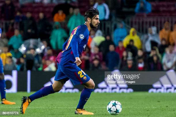 Andre Filipe Tavares Gomes of FC Barcelona in action during the UEFA Champions League 201718 match between FC Barcelona and Olympiacos FC at Camp Nou...