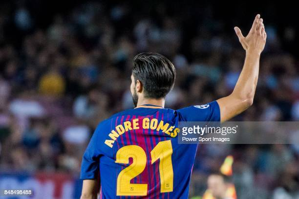 Andre Filipe Tavares Gomes of FC Barcelona reacts during the UEFA Champions League 201718 match between FC Barcelona and Juventus at Camp Nou on 12...