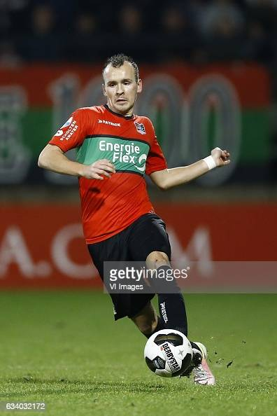 Andre Fomitschow of NEC Nijmegenduring the Dutch Eredivisie match between NEC Nijmegen and Go Ahead Eagles at the Goffert stadium on February 04 2017...