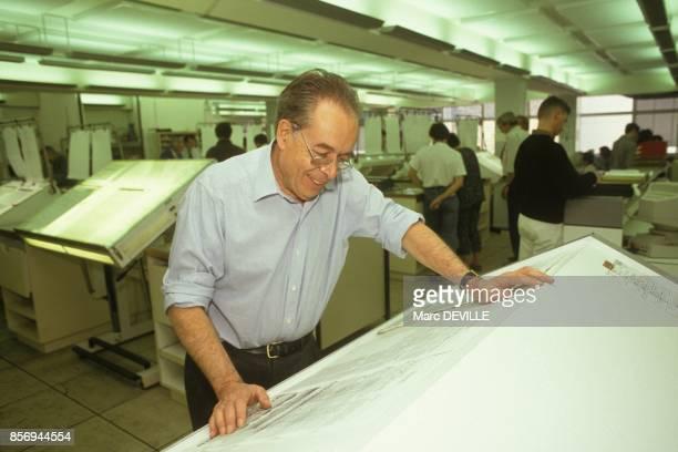 Andre Fontaine directeur du quotidien Le Monde le 27 septembre 1990 a Paris France