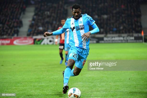 Andre Franck Zambo Anguissa of Marseille during the Ligue 1 match between Lille OSC and Olympique de Marseille at Stade Pierre Mauroy on March 17...