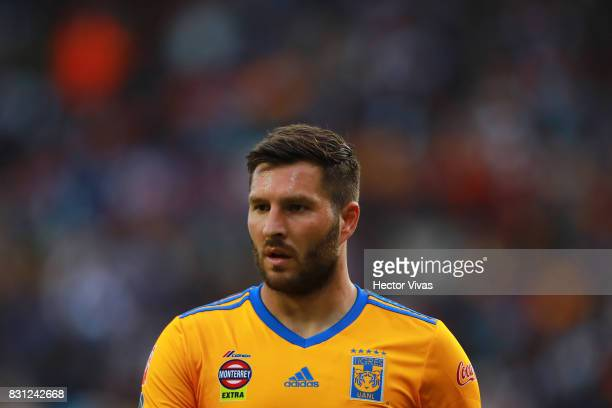 Andre Gignac of Tigres looks on during the 4th round match between Pachuca and Tigres UANL as part of the Torneo Apertura 2017 Liga MX at Hidalgo...