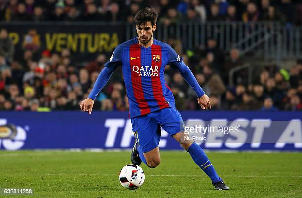 Andre Gomes during the 1/4 final King Cup match between FC Barcelona v Real Sociedad in Barcelona on January 26 2017