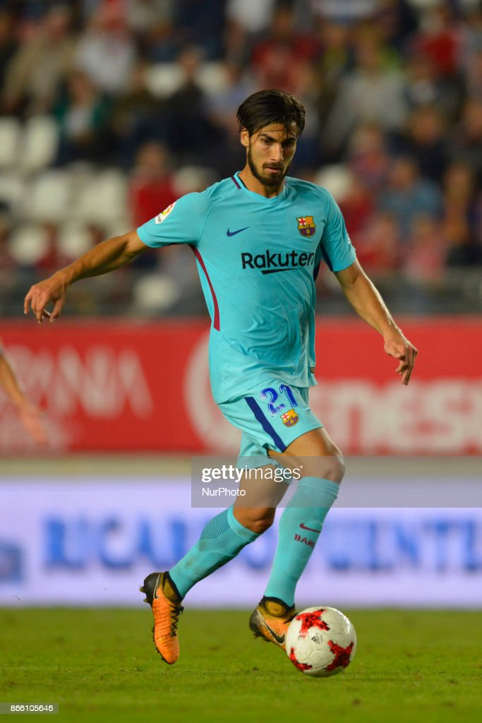 Andre Gomes during the match between Real Murcia vs. FC Barcelona, Copa del Rey 2017/18 in Nueva Condomina Stadium, Murcia, Spain on 24th of October 2017.