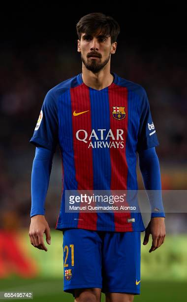 Andre Gomes of Barcelona looks on during the La Liga match between FC Barcelona and Valencia CF at Camp Nou Stadium on March 19 2017 in Barcelona...