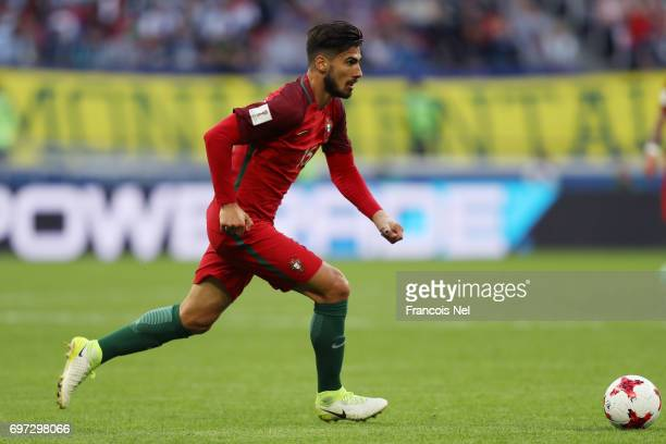 Andre Gomes of Portugal in action during the FIFA Confederations Cup Russia 2017 Group A match between Portugal and Mexico at Kazan Arena on June 18...