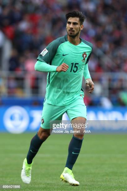 Andre Gomes of Portugal in action during the FIFA Confederations Cup Russia 2017 Group A match between Russia and Portugal at Spartak Stadium on June...