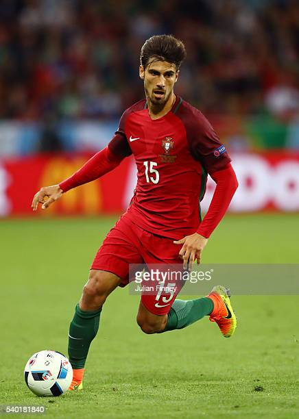 Andre Gomes of Portugal in action during the UEFA EURO 2016 Group F match between Portugal and Iceland at Stade GeoffroyGuichard on June 14 2016 in...