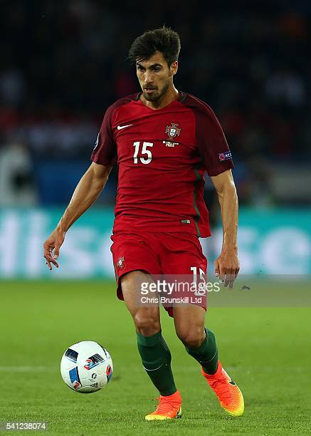 Andre Gomes of Portugal in action during the UEFA Euro 2016 Group F match between the Portugal and Austria at Parc des Princes on June 18 2016 in...