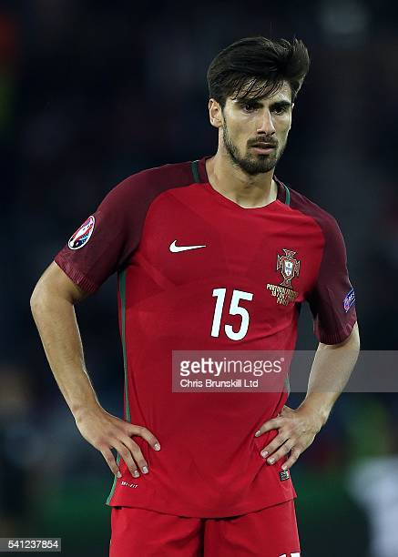 Andre Gomes of Portugal looks on during the UEFA Euro 2016 Group F match between the Portugal and Austria at Parc des Princes on June 18 2016 in...