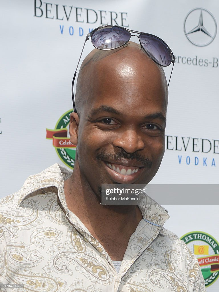 Andre Gordon arrives to the 4th Annual Alex Thomas Celebrity Golf Weekend Pool Party hosted by NFL's Jacoby Jones of the Baltimore Ravens at Hollywood Roosevelt Hotel on July 14, 2013 in Hollywood, California.