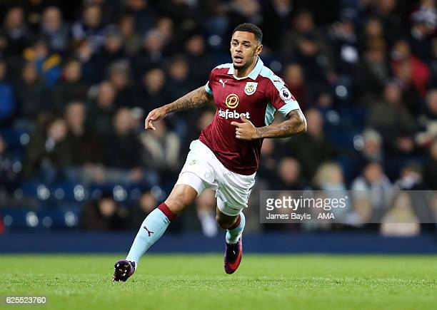 Andre Gray of Burnley during the Premier League match between West Bromwich Albion and Burnley at The Hawthorns on November 21 2016 in West Bromwich...