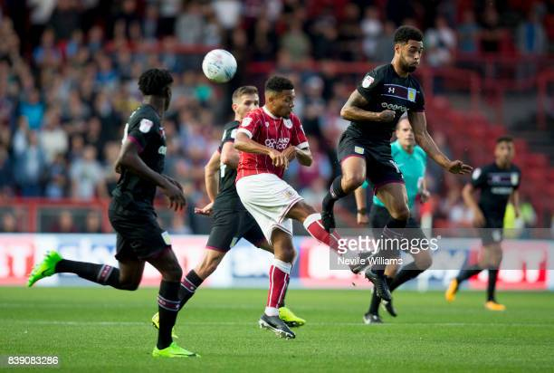 Andre Green of Aston Villa during the Sky Bet Championship match between Bristol City and Aston Villa at Ashton Gate on August 25 2017 in Bristol...