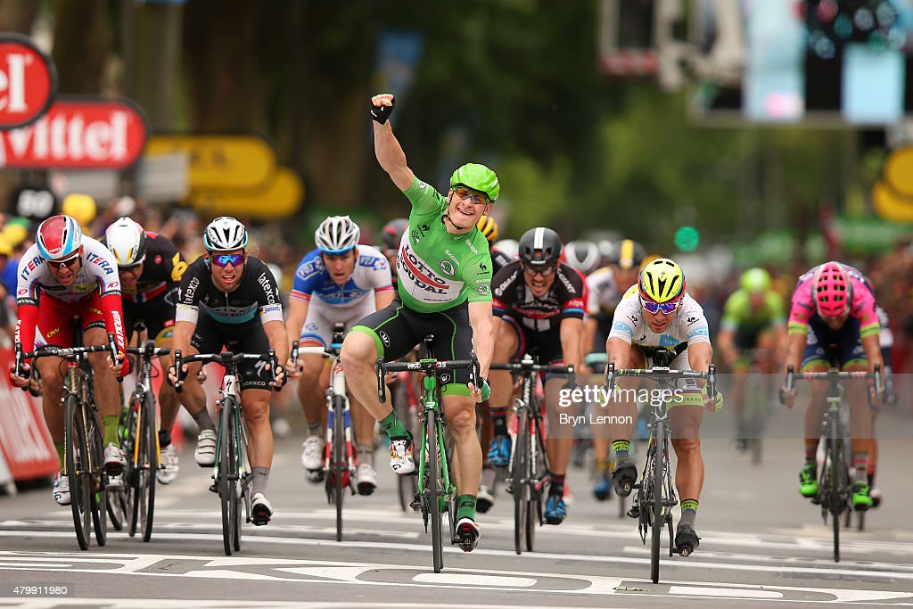 <a gi-track='captionPersonalityLinkClicked' href=/galleries/search?phrase=Andre+Greipel&family=editorial&specificpeople=874849 ng-click='$event.stopPropagation()'>Andre Greipel</a> of Germany and Lotto-Soudal celebrates his victory during stage five of the 2015 Tour de France, a 189.5km stage between Arras and Amiens on July 8, 2015 in Amiens, France.