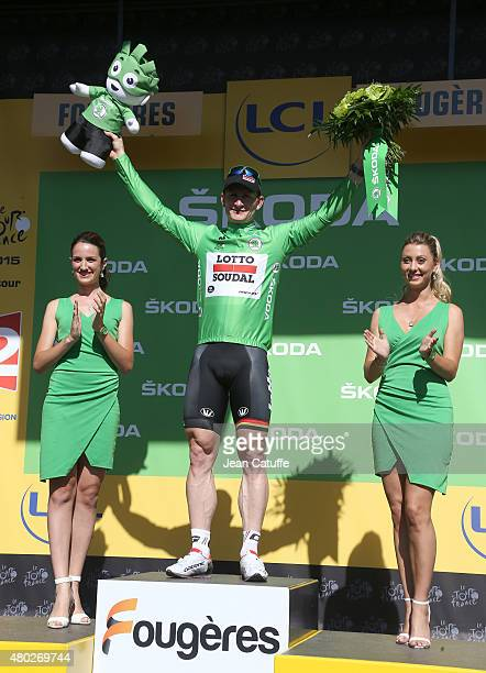 Andre Greipel of Germany and LottoSoudal retains the green jersey of best sprinter following stage seven of the 2015 Tour de France a 1905 km road...