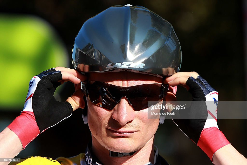 Andre Greipel of Germany and team Lotto Belisol prepares for the People's Choice Classic race of the Tour Down Under on January 20, 2013 in Adelaide, Australia.