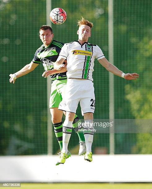 Andre Hahn of Borussia Moenchengladbach in action during the Preseason Friendly between Borussia Moenchengladbach and Swansea at Grassau on July 15...