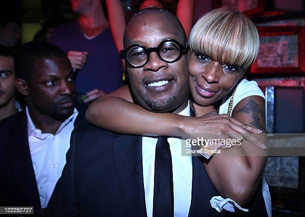 Andre Harrell and Mary J Blige visit SL on June 17 2010 in New York City