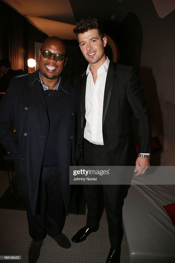 Andre Harrell and Robin Thicke attend the Remy Martin V.S.O.P Ringleader Culmination Event with Robin Thicke at Marquee on March 4, 2013 in New York City.