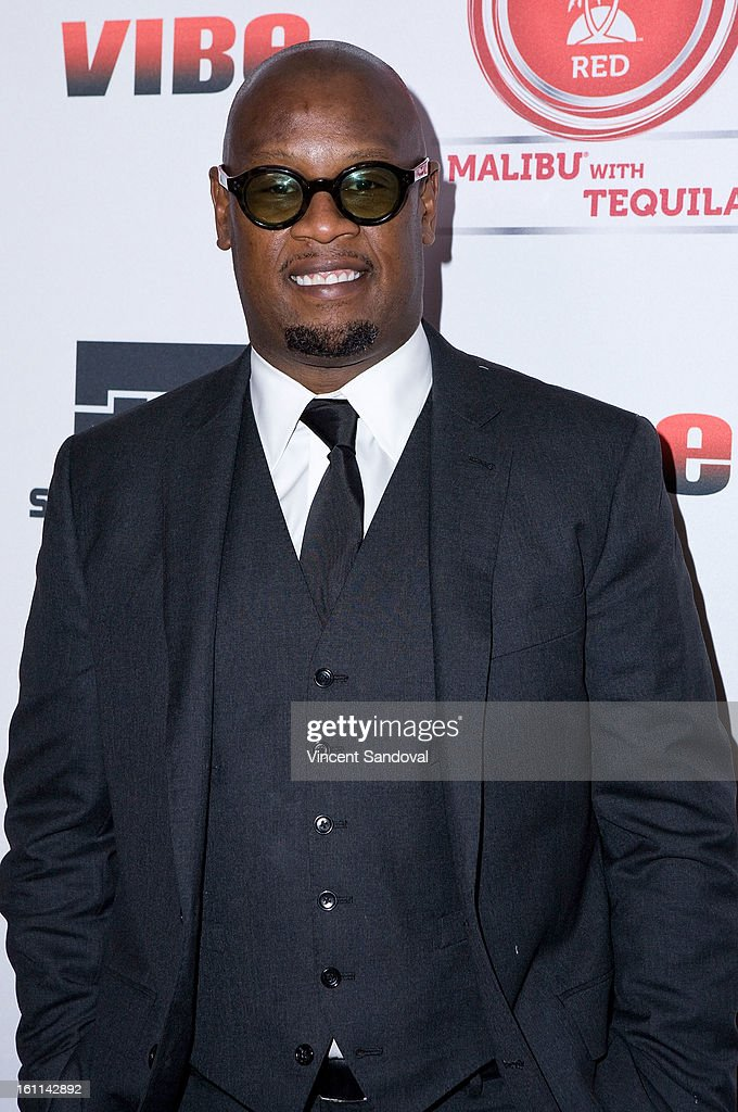 Andre Harrell attends VIBE Magazine's 20th anniversary celebration with inaugural impact awards - Arrivals at Sunset Tower on February 8, 2013 in West Hollywood, California.