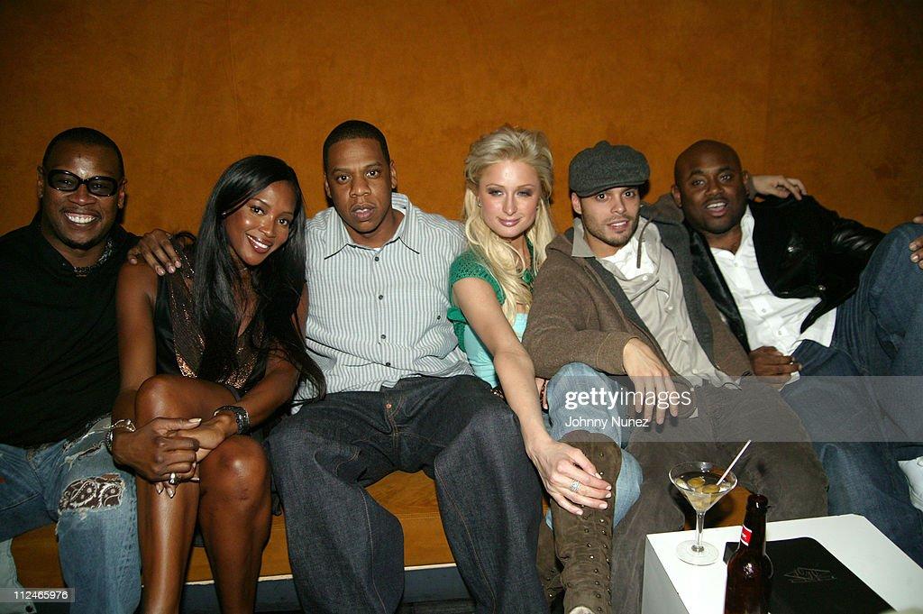 Andre Harrell Naomi Campbell JayZ Paris Hilton Richie Akiva and Steve Stout