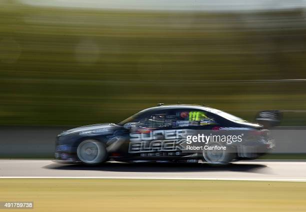 Andre Heimgartner drives the Super Black Racing Ford during practice for the Bathurst 1000 which is race 25 of the V8 Supercars Championship at Mount...