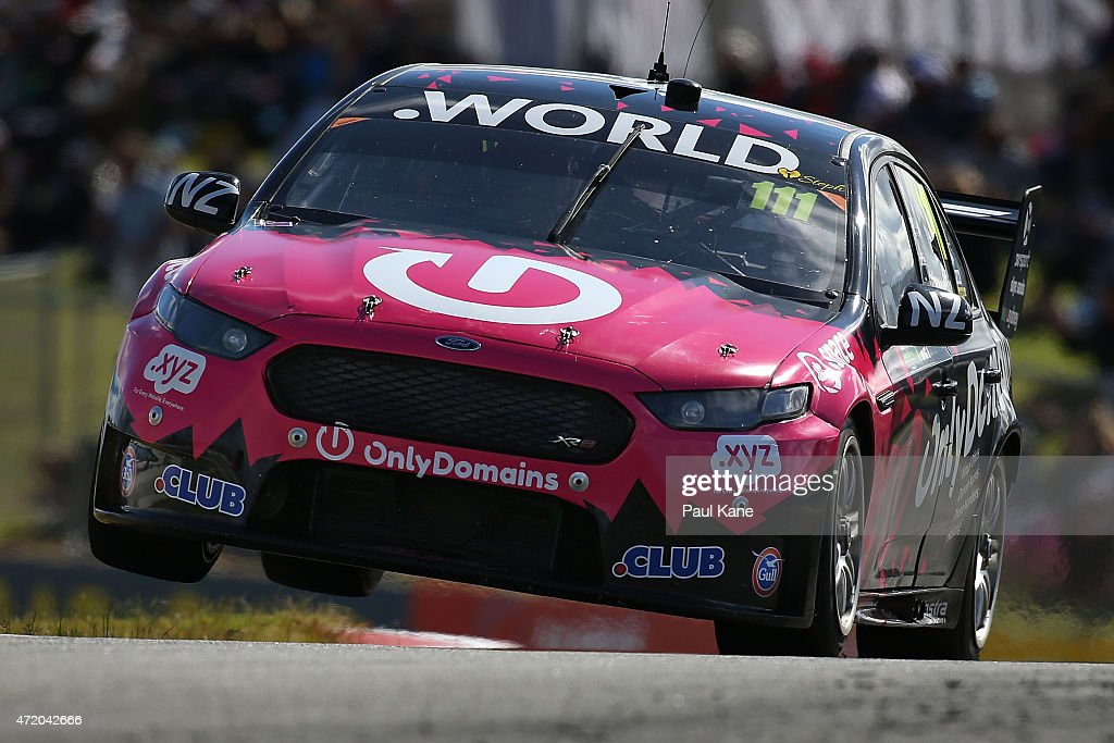 Andre Heimgartner drives the #111 Super Black Racing Ford Falcon FG in the practice session before race 9 during the V8 Supercars - Perth Supersprint at Barbagallo Raceway on May 3, 2015 in Perth, Australia.