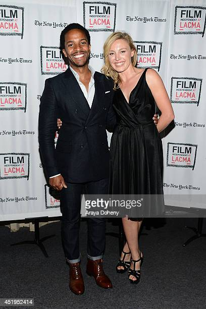 Andre Holland and Juliet Rylance attend the Film Independent screening and QA of 'The Knick' at Bing Theatre At LACMA on July 9 2014 in Los Angeles...