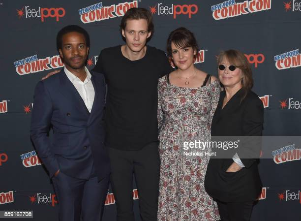 Andre Holland Bill Skarsgard Melanie Lynskey and Sissy Spacek attend Castle Rock Panel during the New York Comic Con 2017 on October 8 2017 in New...