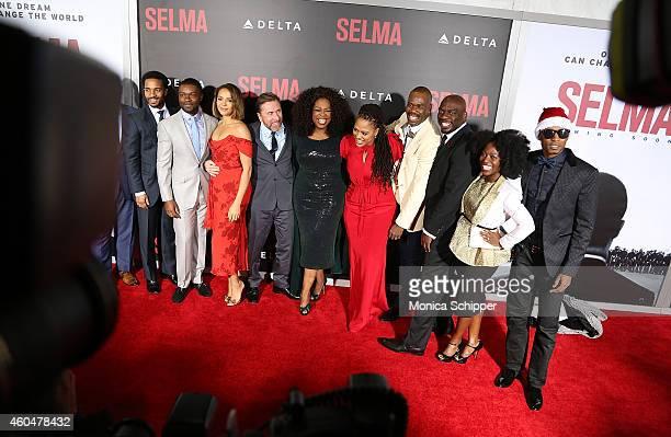 Andre Holland David Oyelowo Carmen Ejogo Tim Roth Oprah Winfrey Ava DuVernay Omar Dorsey and Charity Jordan attend 'Selma' New York Premiere Inside...