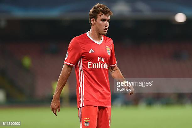 Andre Horta of Sl Benfica during the UEFA Champions League match between SSC Napoli and Sl Benfica at Stadio San Paolo Naples Italy on 28 September...