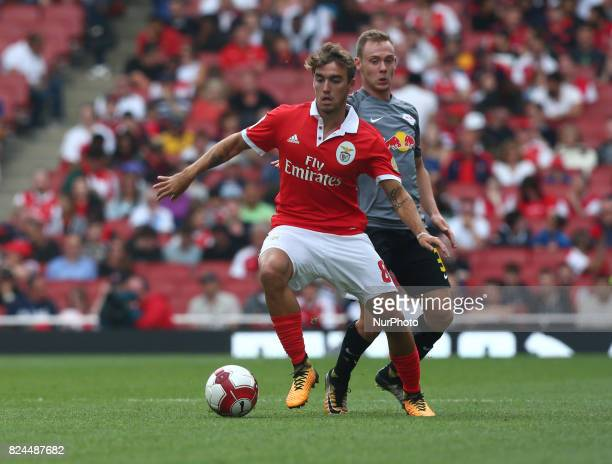 Andre Horta of Sporty Lisboa e Benfica during Emirates Cup match between RB Leipzig against Benfica at The Emirates Stadium in north London on July...