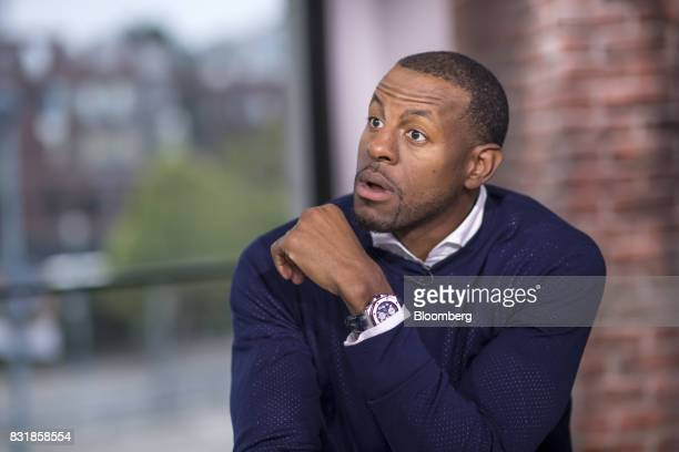 Andre Iguodala a professional basketball player with the National Basketball Association's Golden State Warriors speaks during a Bloomberg Television...