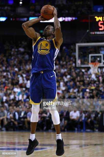 Andre Iguodala of the Golden State Warriors in action during the game between the Minnesota Timberwolves and the Golden State Warriors as part of...