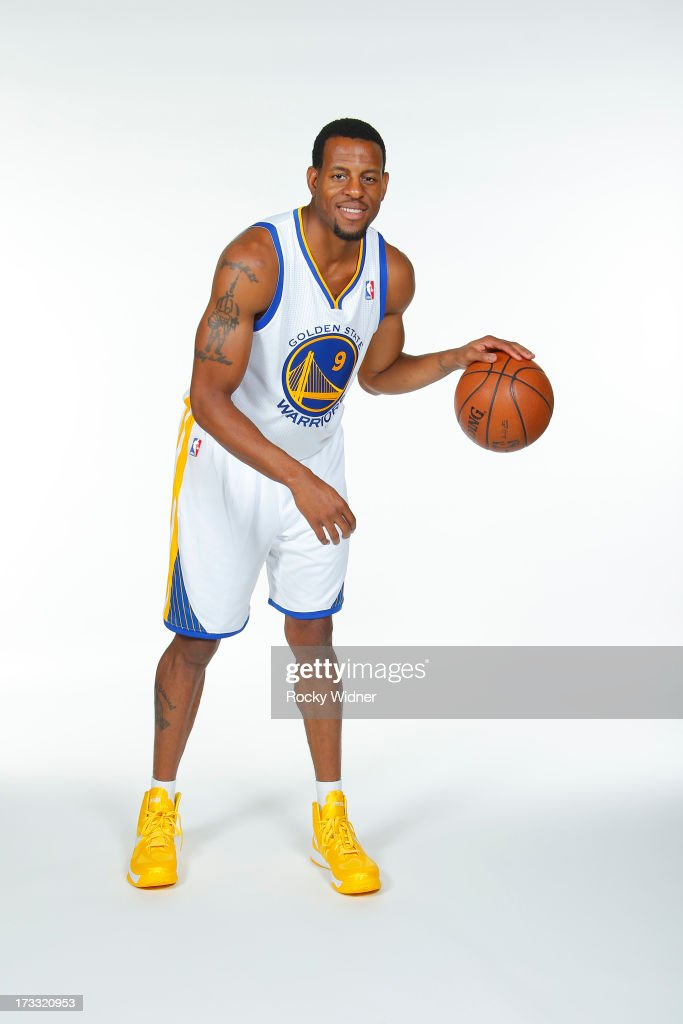 Andre Iguodala #9 of the Golden State Warriors participates in a photo shoot on July 11, 2013 in Oakland, California.