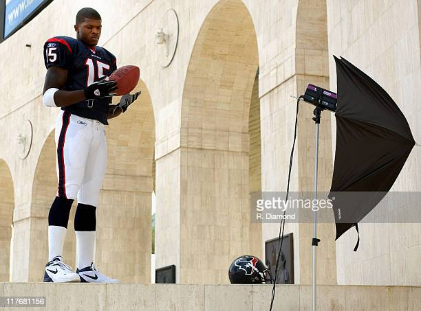 Andre Johnson Texans during Reebok NFL Players Rookie Premiere Presented by 989 Sports at LA Coliseum in Los Angeles California United States