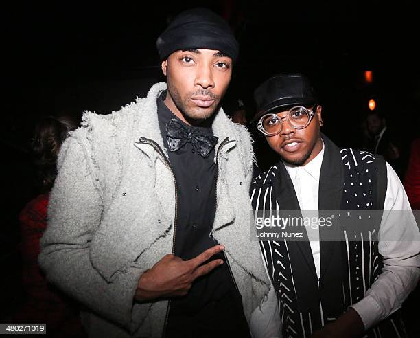 Andre King and Tariq Walters attend the Legendary Damons annual LUXXBALL at Marquee on March 23 2014 in New York City