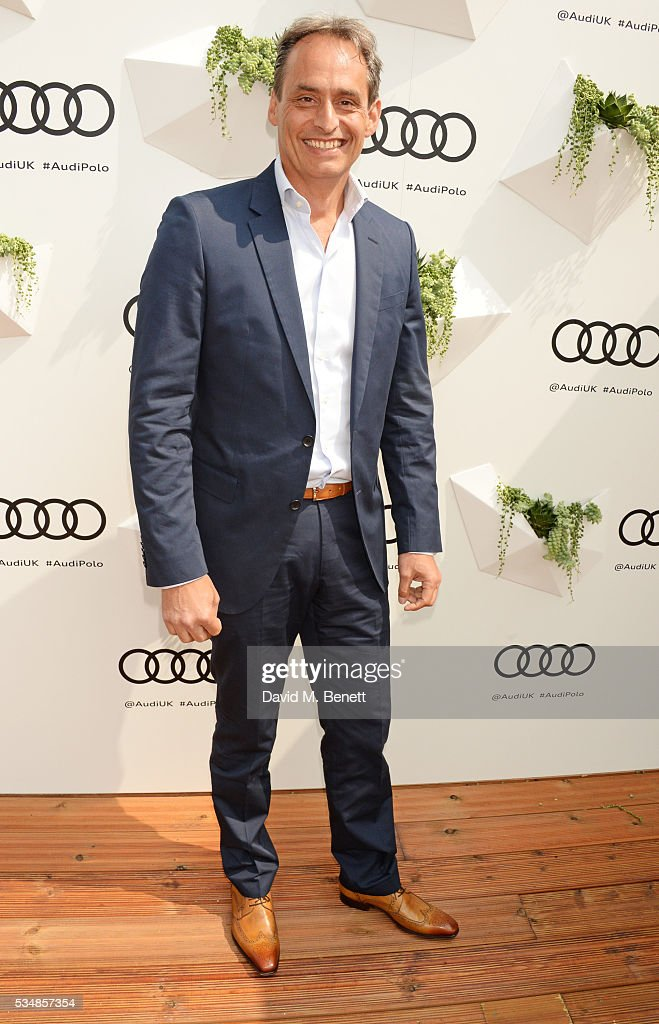 Andre Konsbruck, Director of Audi UK, attends day one of the Audi Polo Challenge at Coworth Park on May 28, 2016 in London, England.